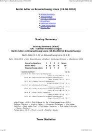 Berlin Adler vs Braunschweig Lions (19.06.2010 ... - NewYorker Lions