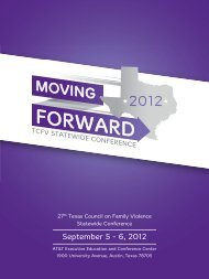 September 5 - 6, 2012 - Texas Council on Family Violence