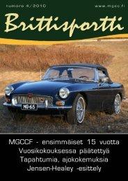 Ensimmäiset 15 Vuotta - MG Car Club Finland Ry