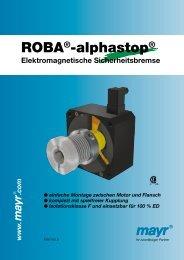 ROBA®-alphastop® - Mayr