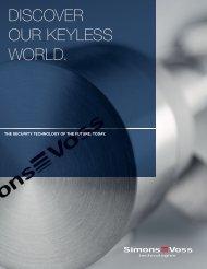 DISCOVER OUR KEYLESS WORLD. - SimonsVoss technologies