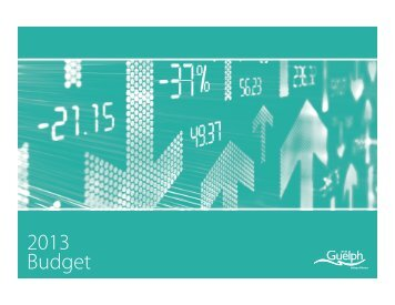 2013 Budget - City of Guelph