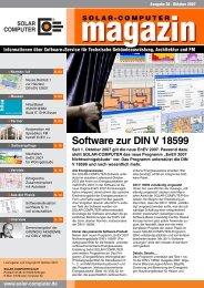 Software zur DIN V 18599 - SOLAR-COMPUTER GmbH