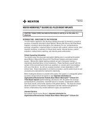 mentor memorygel™ silicone gel-filled breast implants