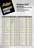 Preisliste 2012 - Snickers Concept Store - Seite 2