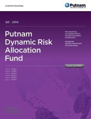 Dynamic Risk Allocation Fund Brochure - Putnam Investments