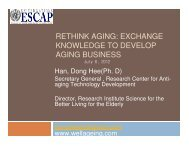 Rethinking aging - Subregional Office for East and North-East Asia