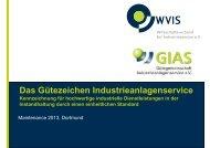 Das Gütezeichen Industrieanlagenservice - WVIS ...