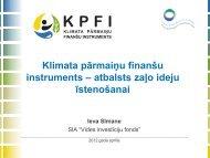 Klimata pārmaiņu finanšu instruments – atbalsts ... - Vides risinājumi