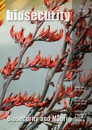Biosecurity and Maori - Biosecurity New Zealand
