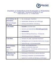 Checkliste für ein Exposé - Business Angels Club Berlin eV