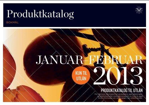 Total produktkatalog for perioden januar/februar 2013