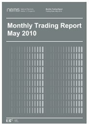 Monthly Trading Report May 2010 - EMC - Energy Market Company