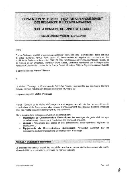 France Télécom, société anonyme au capital de 10 595 434 424 ...