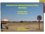Guidelines for Informal Economy Policy Workshop