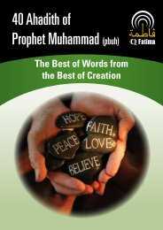 40 Ahadith of Prophet Muhammad (pbuh) - QFatima
