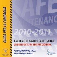 Guida per la campagna europea sulla manutenzione ... - Teknoring