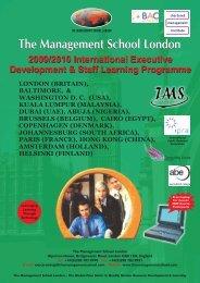 Download Brochure - The Management School London