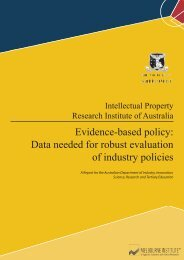 Evidence-based policy - Intellectual Property Research Institute of ...