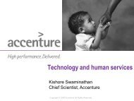 Technology and human services - Accenture