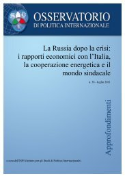 La Russia dopo la crisi - Parlamento Italiano