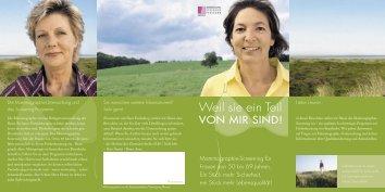 Informations-Flyer zum Mammographie-Screening