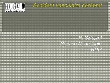 AVC et travail - Dr Roman Sztajzel