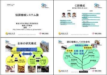 第10回[pdf] - 知能システム分野 - 東京大学