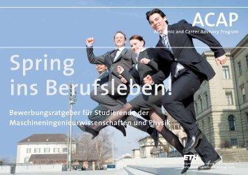 Spring ins Berufsleben! - Berner Fachhochschule Technik und ...