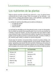 Los nutrientes de las plantas - World Agroforestry Centre