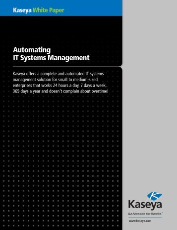 Automating IT Systems Management - Kaseya