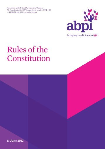 NB_ABPI_Rules of Constitution - Association of the British ...