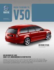 Volvo V50 tilbehørsfolder modelår 2012 (pdf)