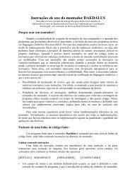 Instruções de uso do montador DAEDALUS