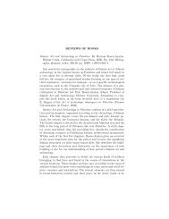 REVIEWS OF BOOKS Islamic Art and Archæology in Palestine. By ...