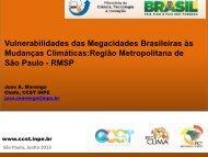 Vulnerabilidades das Megacidades às Mudanças Climáticas - Sabesp