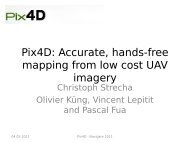 Pix4D: Accurate, hands-free mapping from low cost UAV imagery