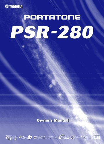 PSR 280 Manual - Yamaha