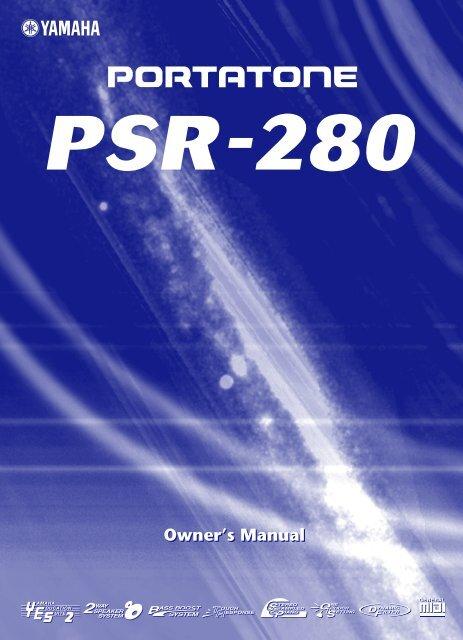 PSR 280 Manual - Yamaha