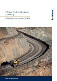 Brochure - Efficient System Solutions for Mining [3.29 MB] - ProMinent