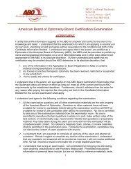 American Board of Optometry Board Certification Examination - CECity