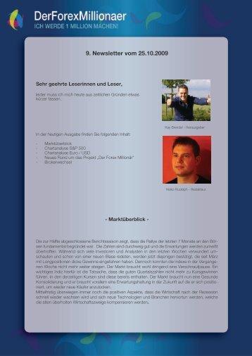9. Newsletter vom 25.10.2009 - Der Forex Millionaer