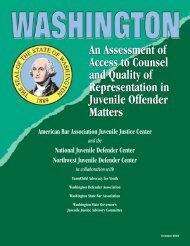 Washington: An Assessment of Access to Counsel and Quality of