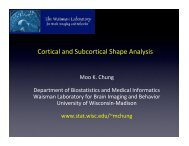 Cortical and Subcortical Shape Analysis - Waisman Laboratory for ...