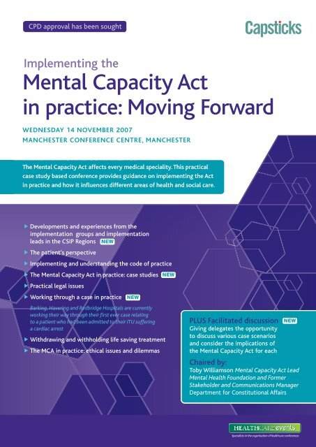 Mental Capacity Act in practice - Social Perspectives Network