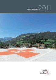 Jahresbericht 2011 - Spital regiunal Surselva