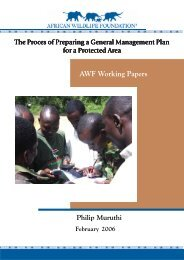 GMP Process for Protected Areas paper.pmd - African Wildlife ...