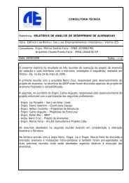 RELATÓRIO DE ANÁLISE DE DESEMPENHO DE ALVENARIAS ...