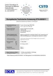 ETA-09/0011 - bei Powers Europe