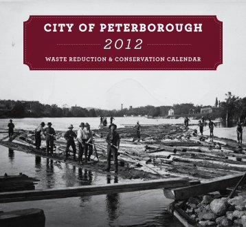 2012 Waste Reduction Calendar - City of Peterborough